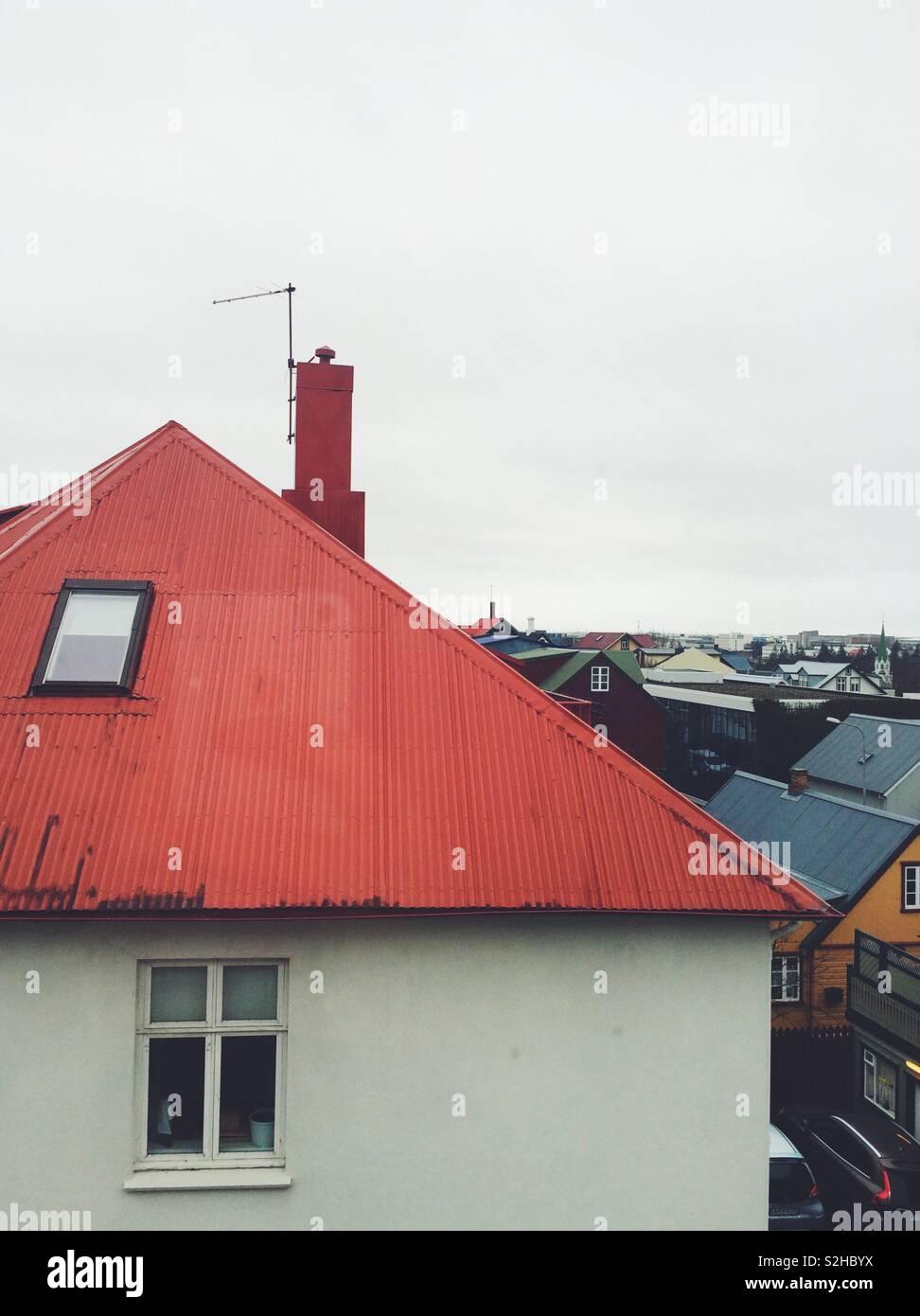 Isländische loft Ansichten Stockbild