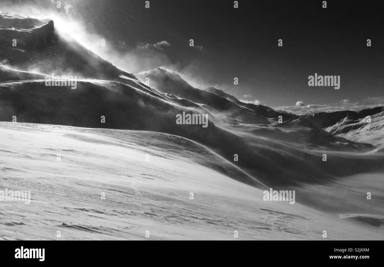 Sonniges Wetter in den Schweizer Alpen Stockbild