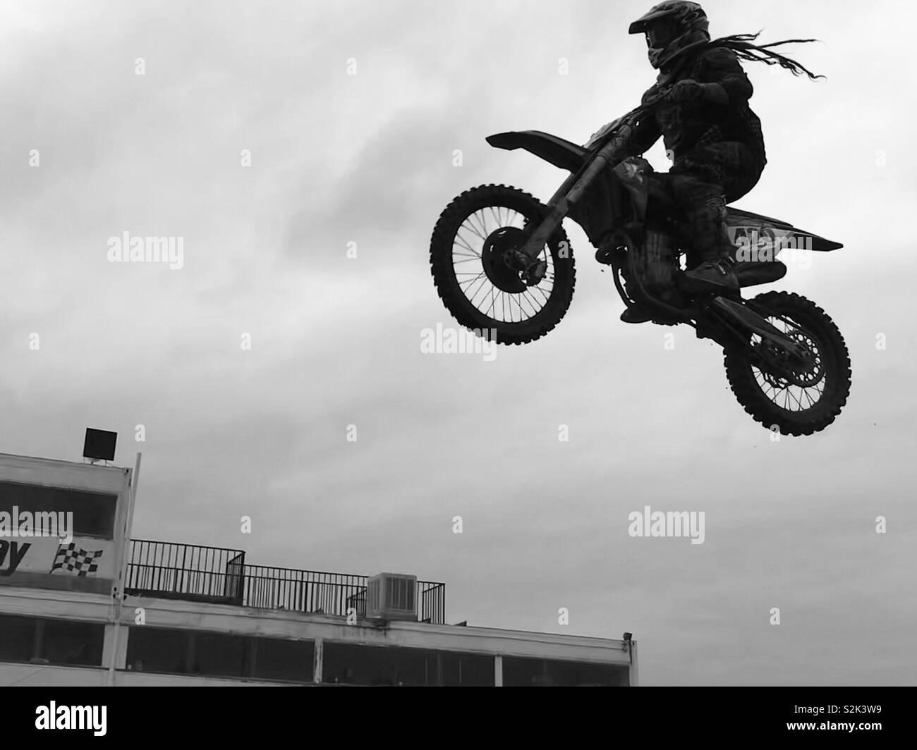 Fliegen hoch! Stockfoto