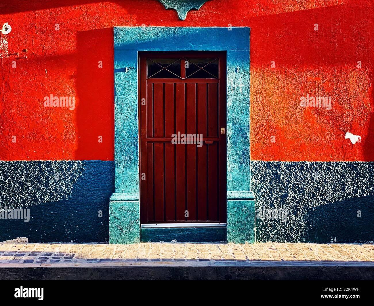Fassade, San Miguel de Allende Stockfoto