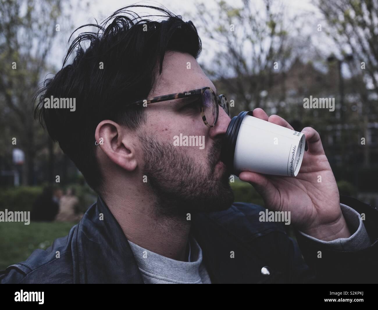 Kaffee-Pause Stockfoto