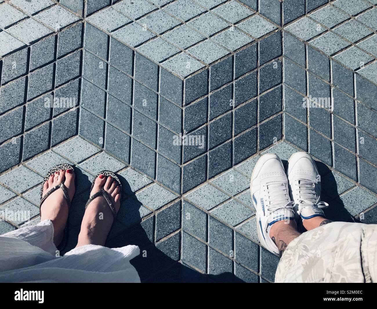 Alicante, Ensanche Diputación Stockfoto