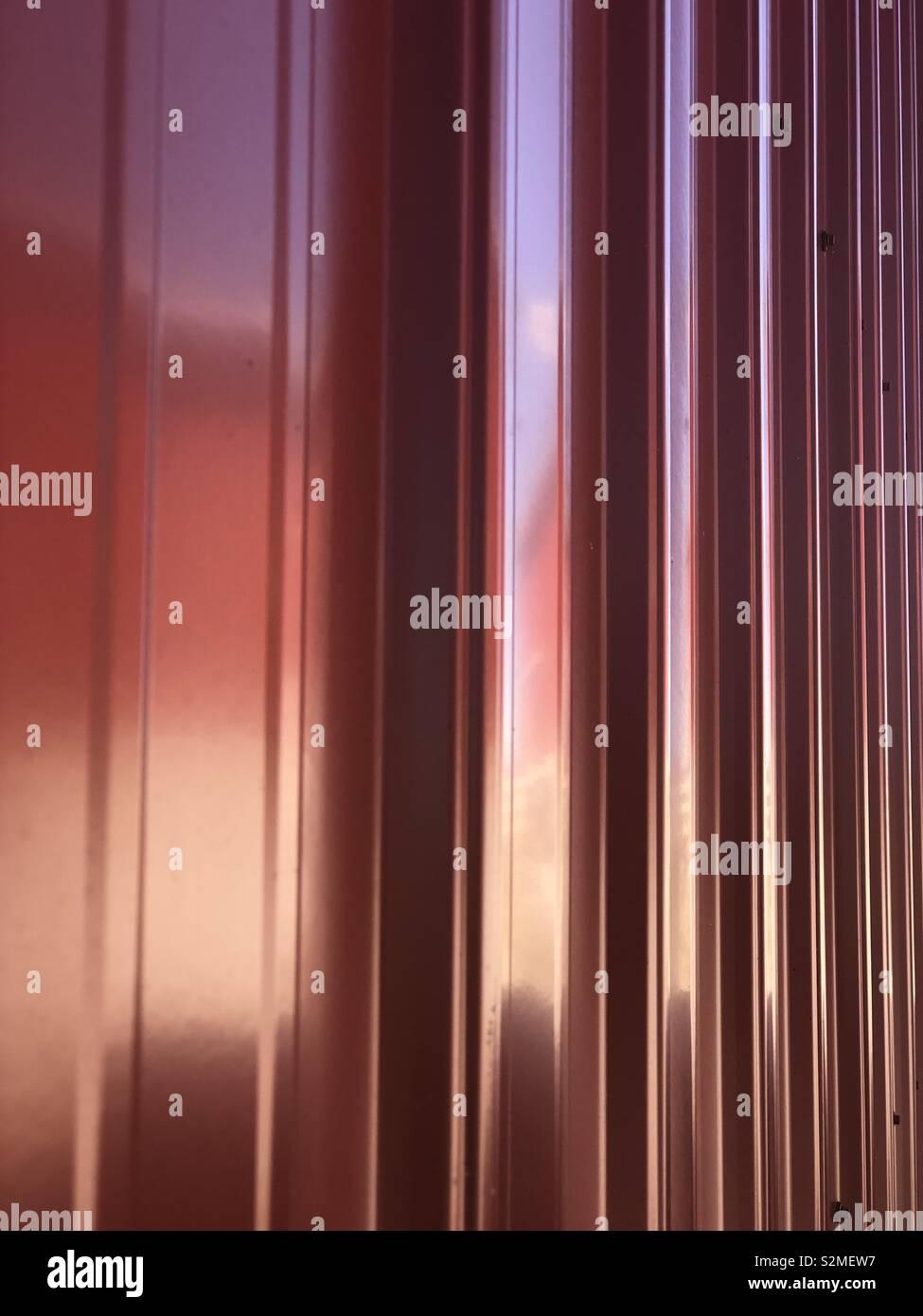 Rot glänzend Scheune Stockfoto