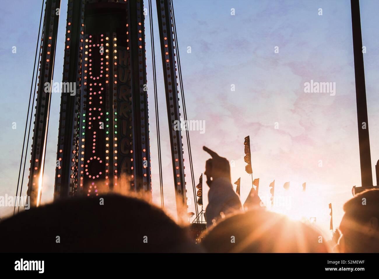 Schönen Sonnenuntergang am Festival Stockfoto