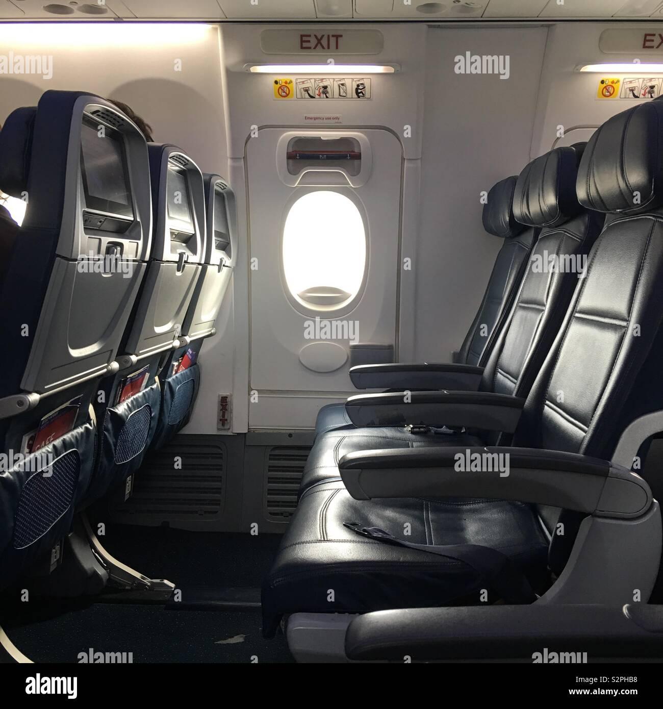 Boeing Interior Seats Stockfotos Boeing Interior Seats
