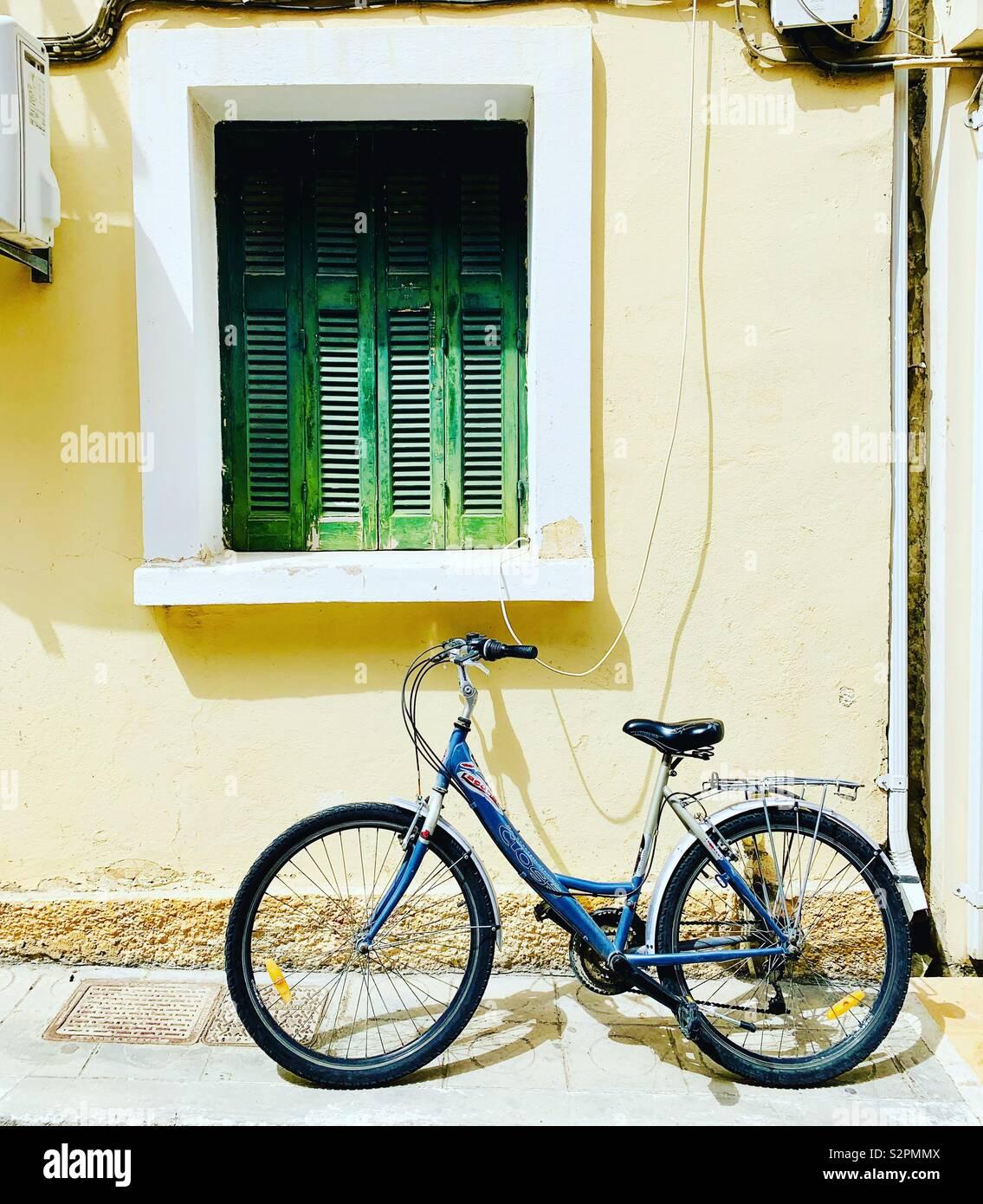 Fahrrad in Zakynthos, Griechenland. Stockfoto