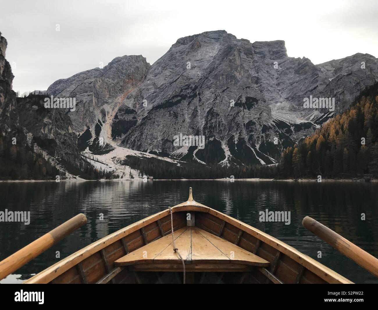 Bries See auf dem Boot Stockbild