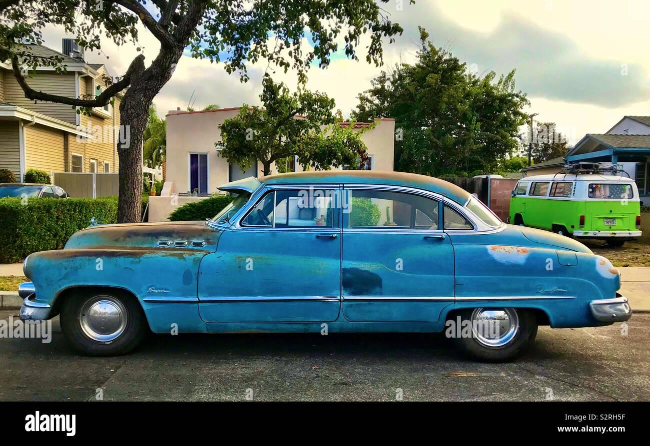 Alte klassische amerikanische Auto in Los Angeles. Stockfoto