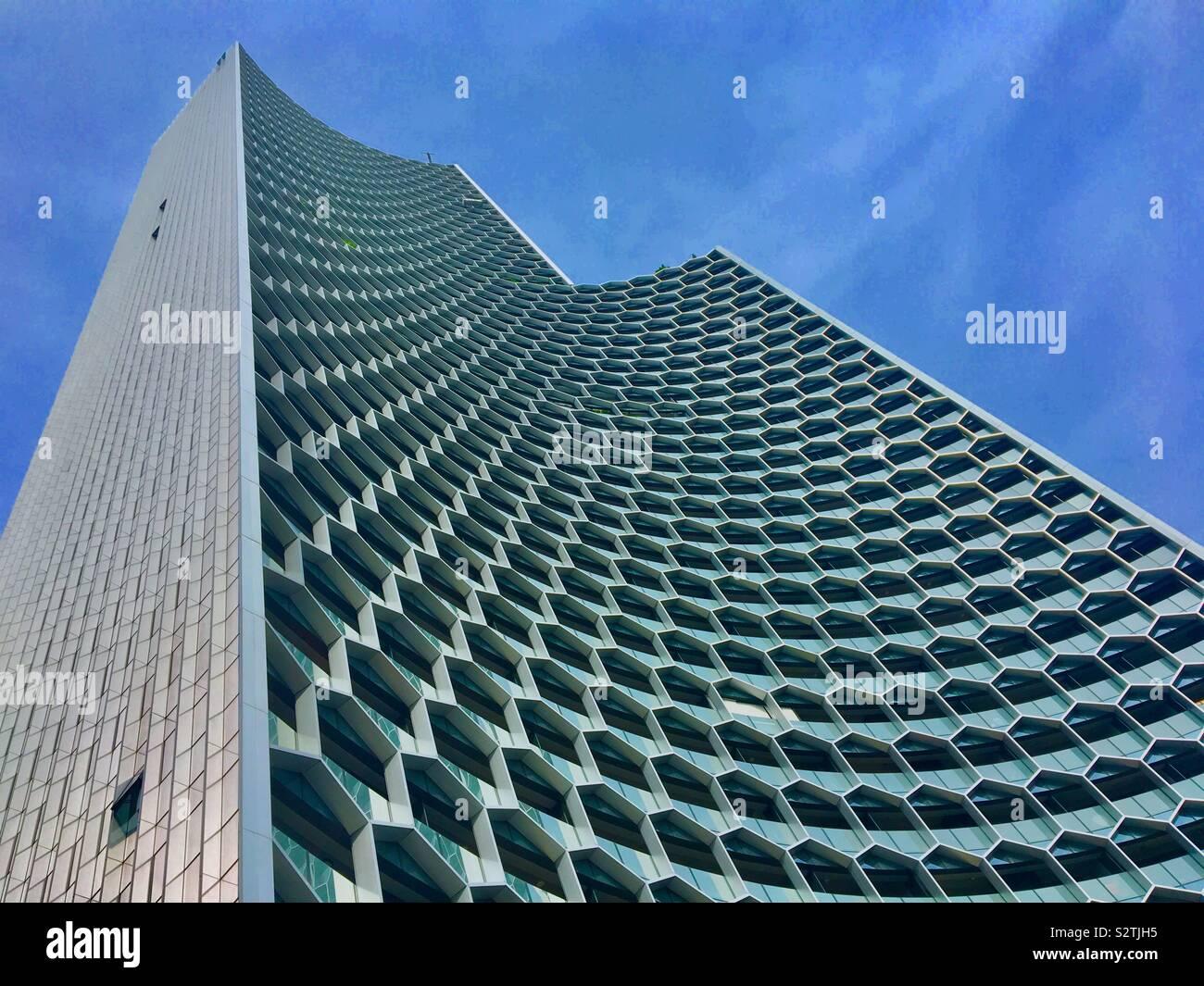 Moderne Architektur in Singapur Südostasien Stockfoto