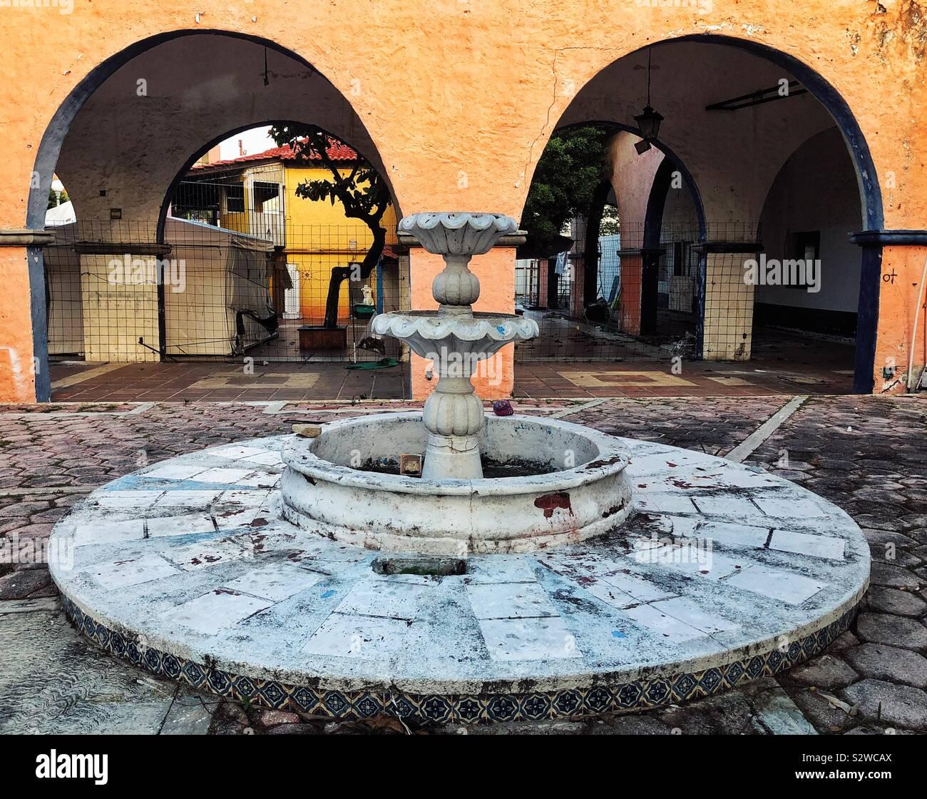 Zurückgelassenes Eigentum in Cancun, Mexiko Stockfoto
