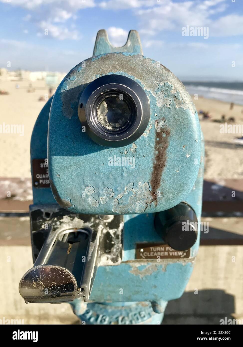 Blick von der Venedig Pier. Stockfoto