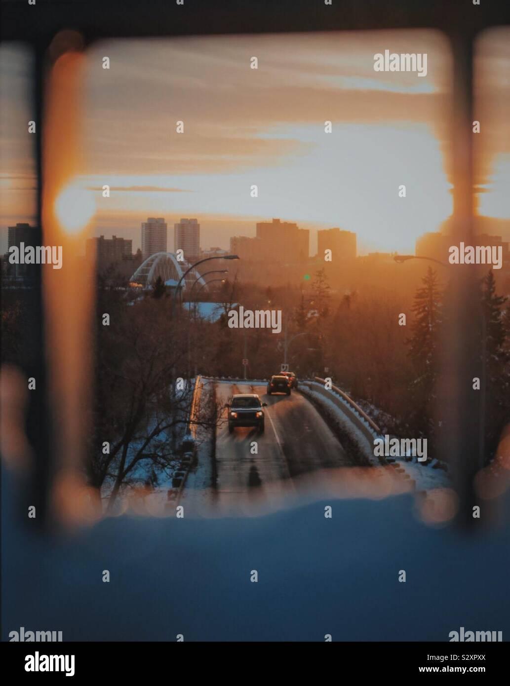 Sonnenuntergänge in Edmonton!! 😊 Stockfoto