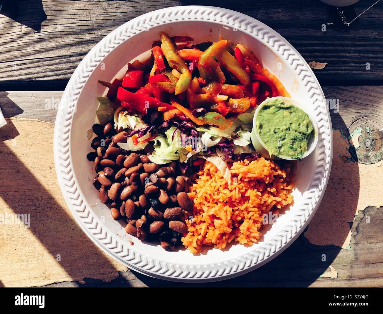 Letztes Abendessen im Freien vor dem Winter Stockfoto