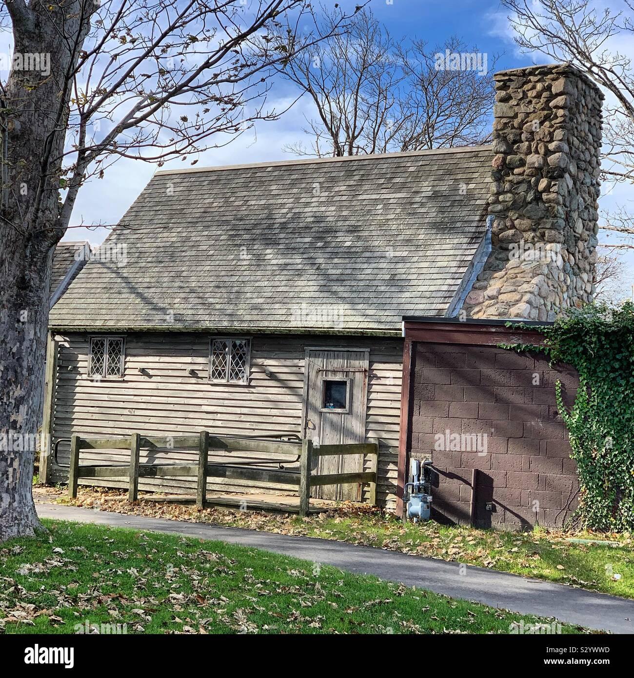 Mayflower Museum Geschäfte, Plimoth Plantation, Pilgrim Memorial State Park, Plymouth, Massachusetts, Vereinigte Staaten von Amerika Stockfoto
