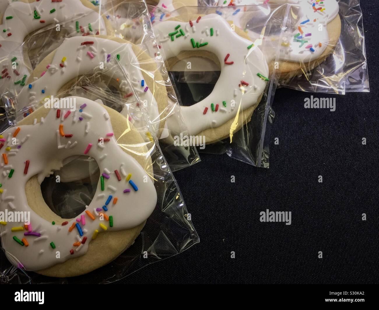 Cookies mit Streusel Stockfoto