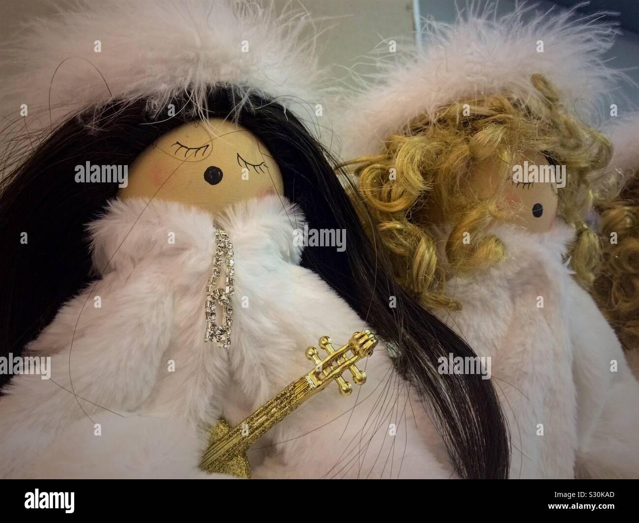 Engel Chor Puppen Stockfoto