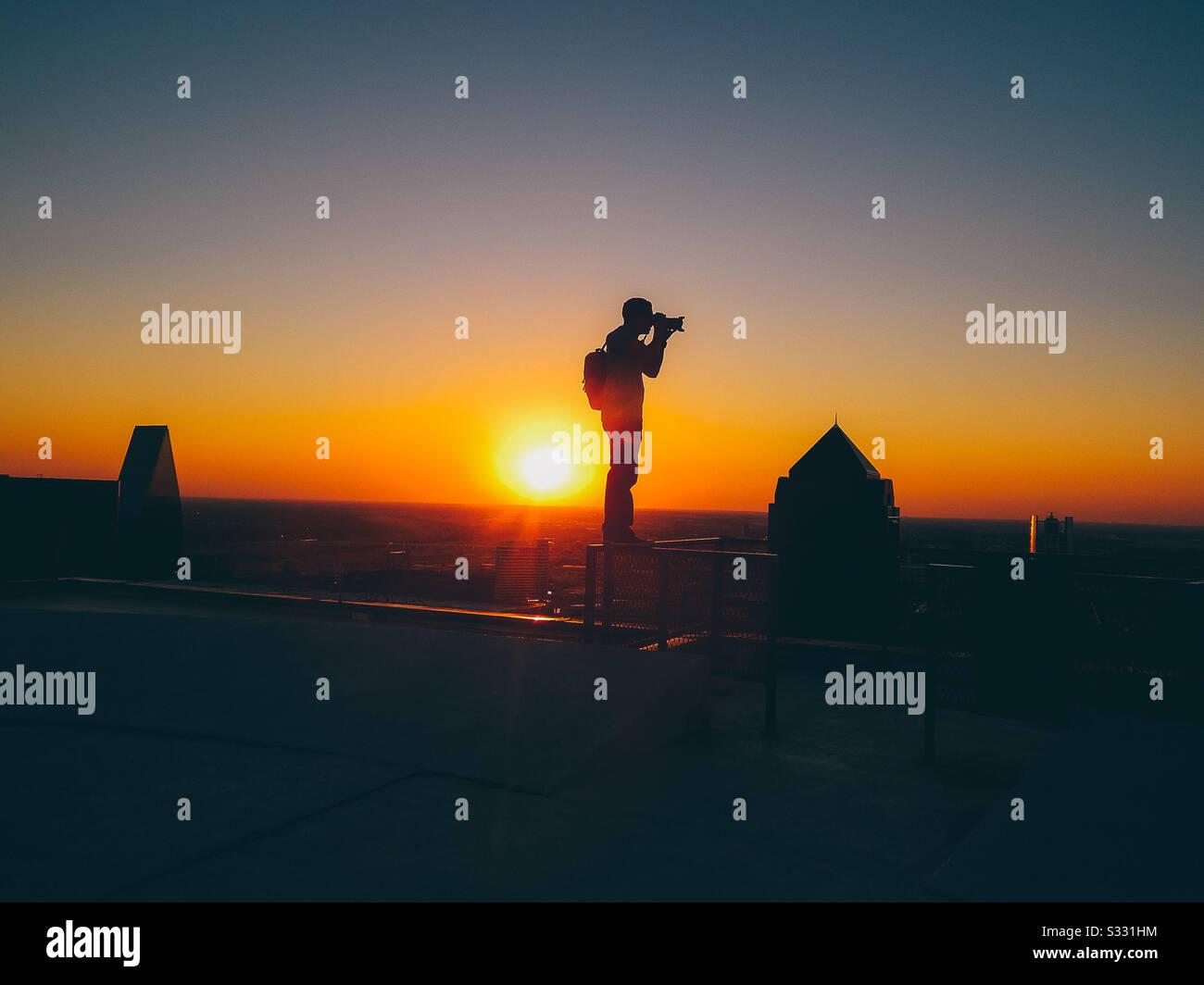 Fotografie über die Höhen hinaus Stockfoto