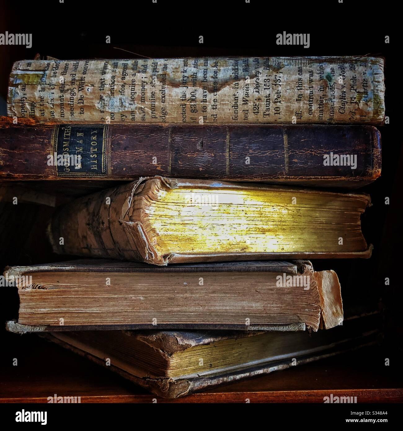 Oldtimer Bücher Stockfoto
