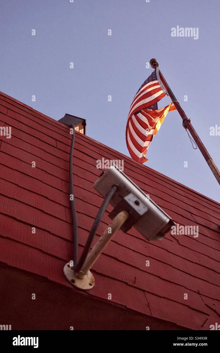 Amerikanische Überwachung Stockfoto