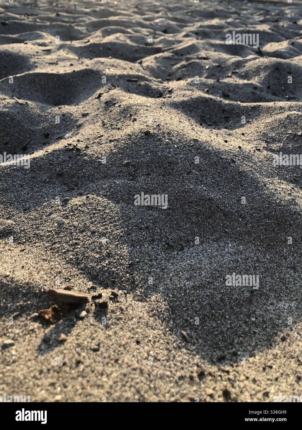 Sand am Strand Stockfoto