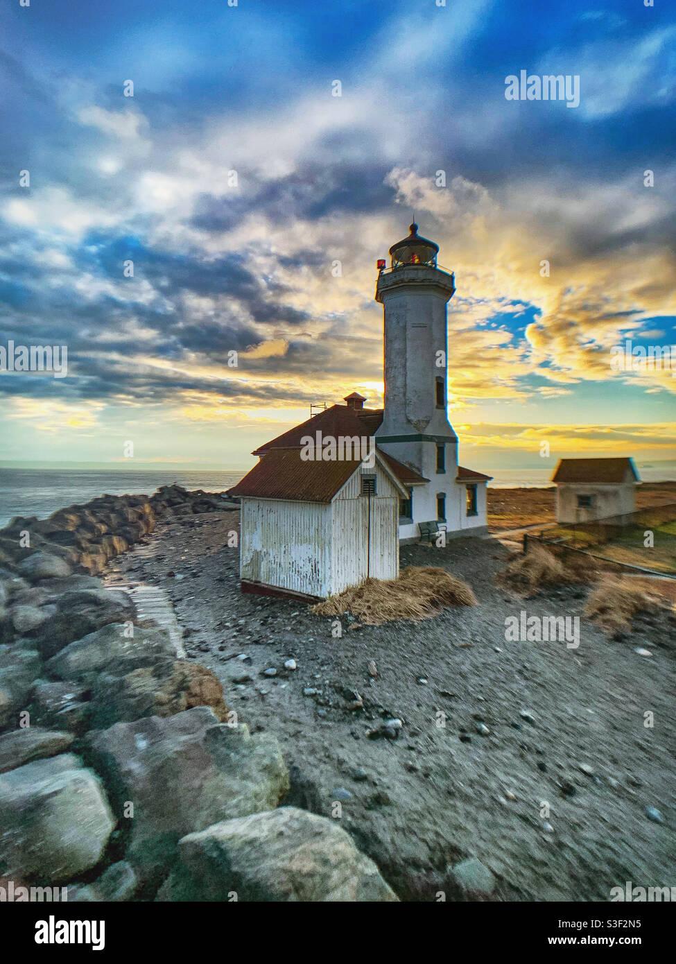 Point Wilson Light, Port Townsend, WA Stockfoto