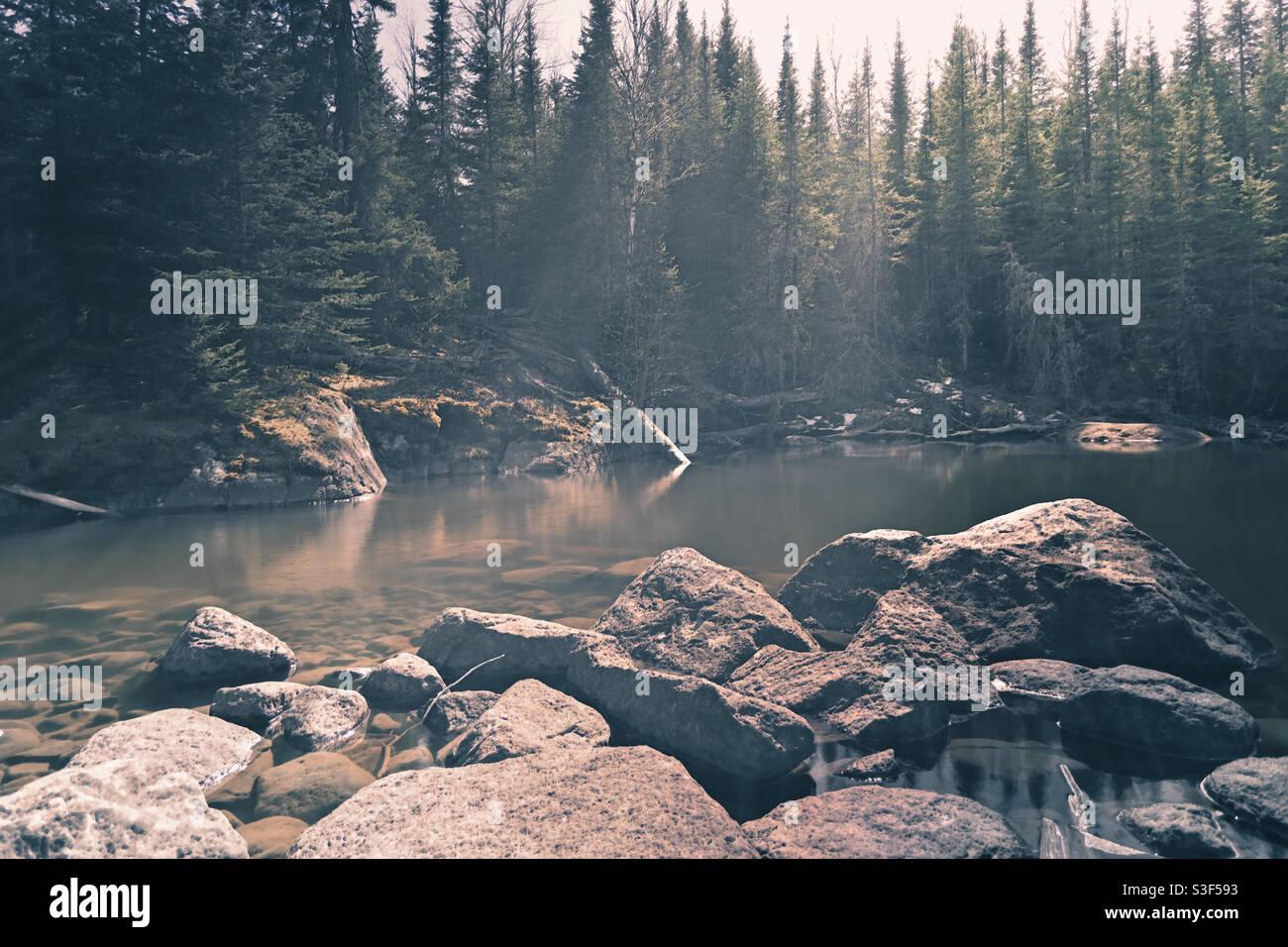 Ein friedlicher Ort zum Sitzen und zum Nachdenken über die Welt Stockfoto