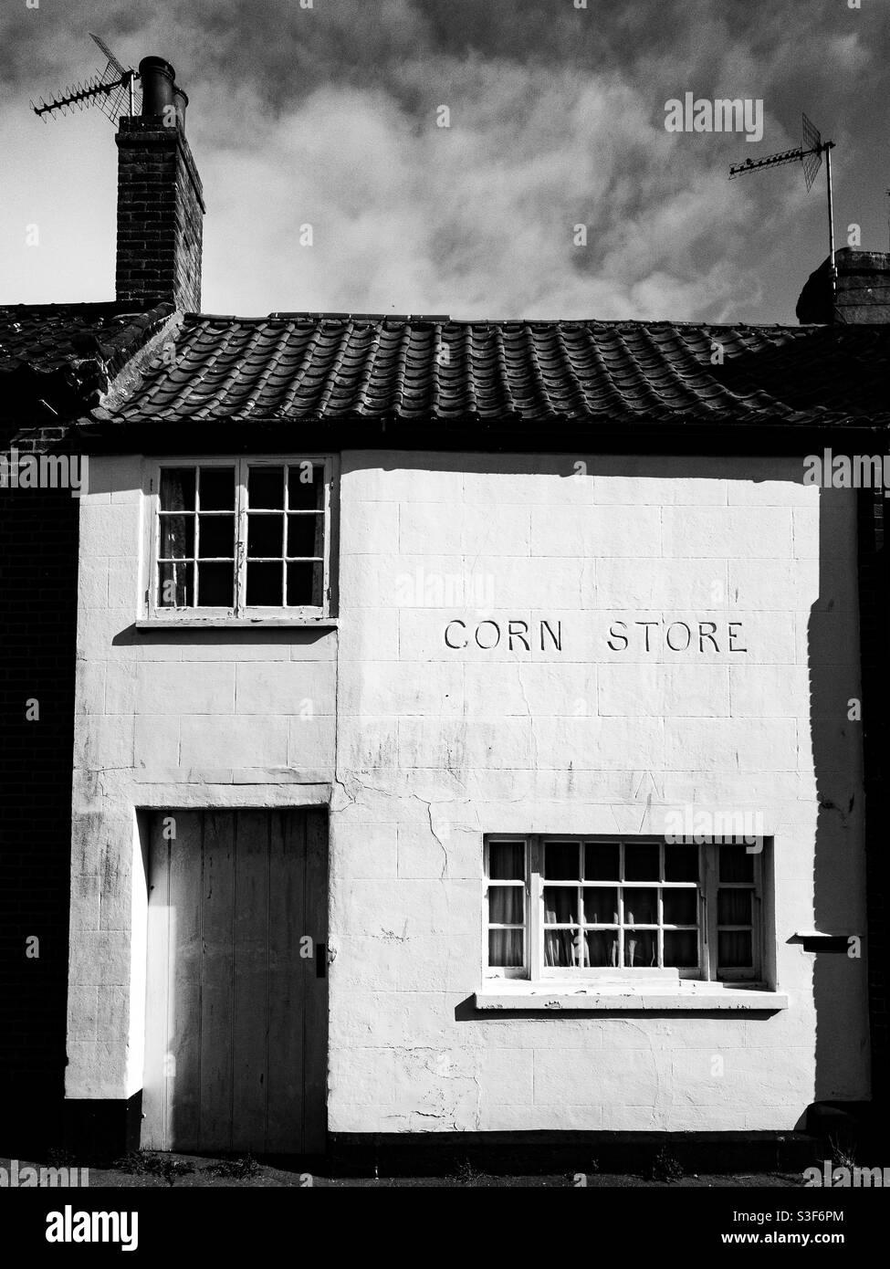Ehemaliges Maisgeschäft in Southwold, Suffolk Stockfoto