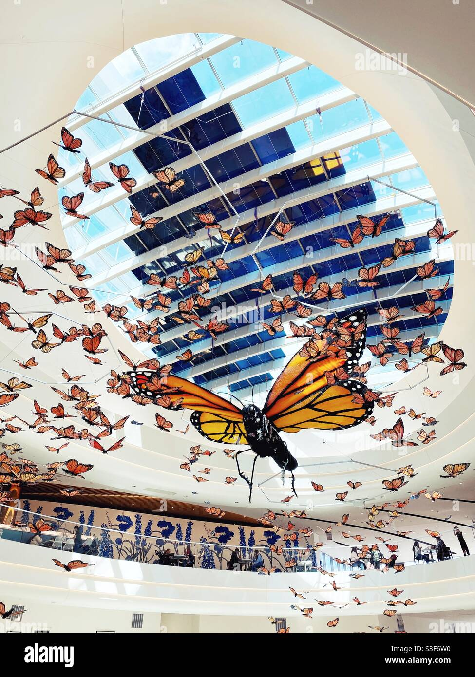 Kaleidoscope, eine Kunstinstallation in der Mall of America. Stockfoto