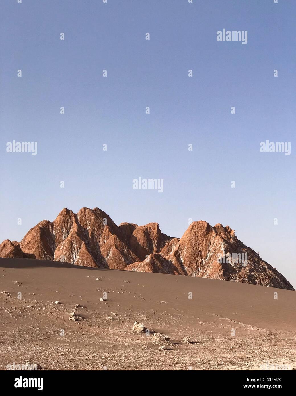 El Valle de la Luna oder Tal des Mondes, San Pedro de Atacama, Chile Stockfoto