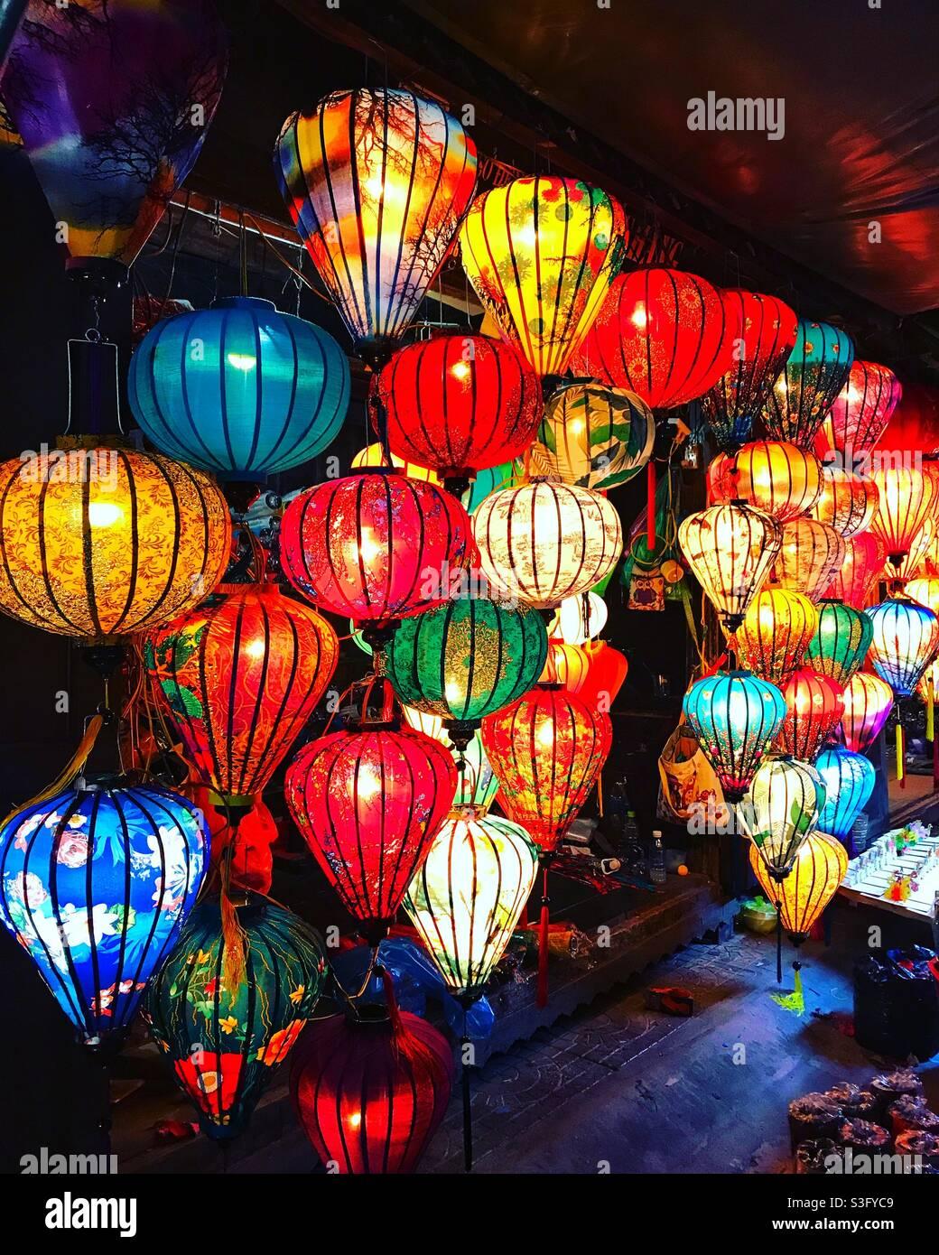 Lichter von Hoi an, Vietnam Stockfoto