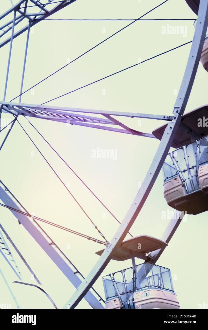 Großes Rad (Riesenrad) Stockfoto