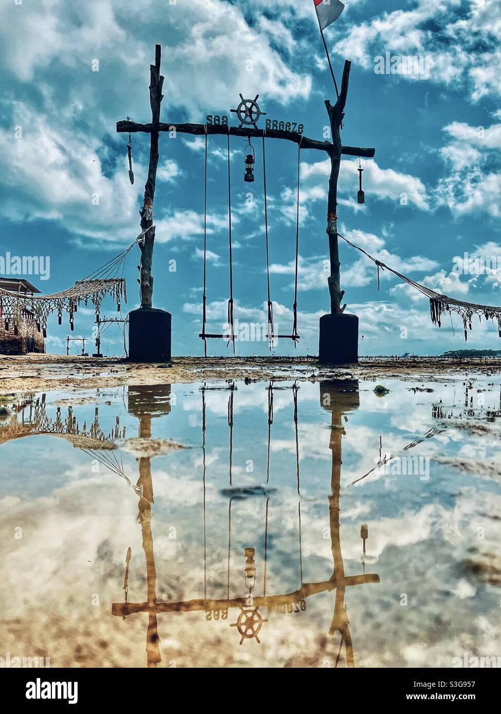 Spiegelung der Meeresbrise Stockfoto