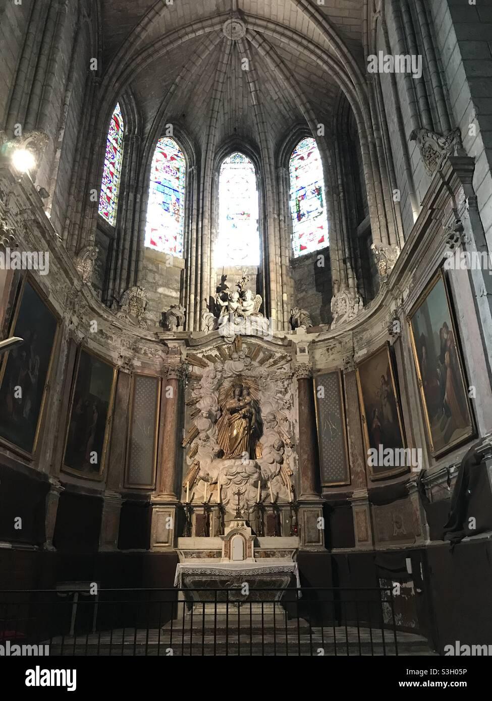 Kirche oder Frankreich Stockfoto