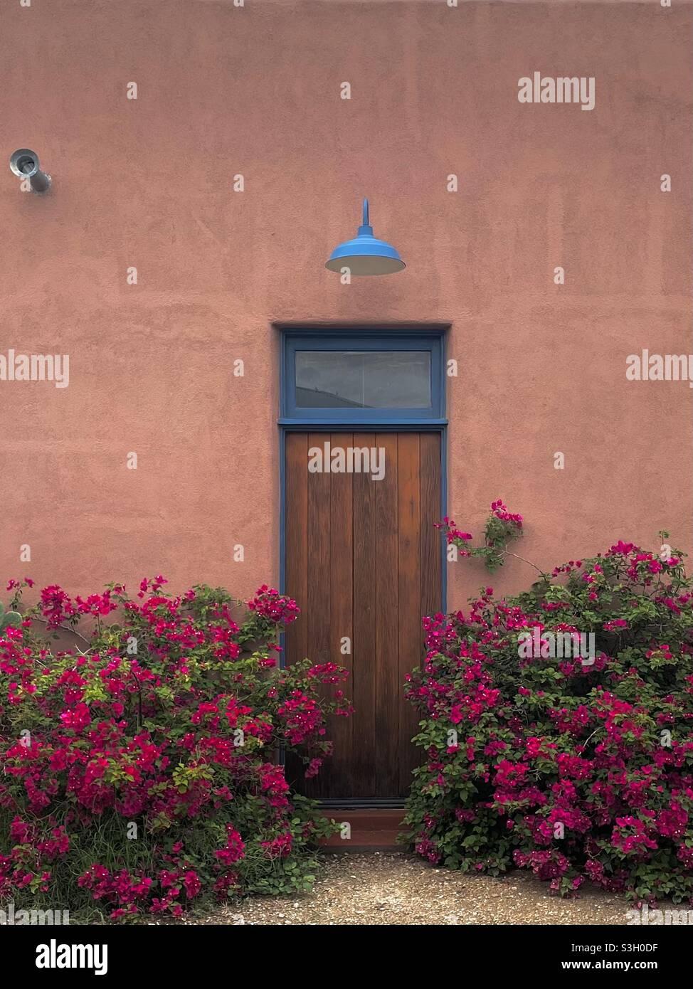 Aufgenommen mit dem iPhone 12 im Barrio Viejo, Tucson, AZ. Stockfoto