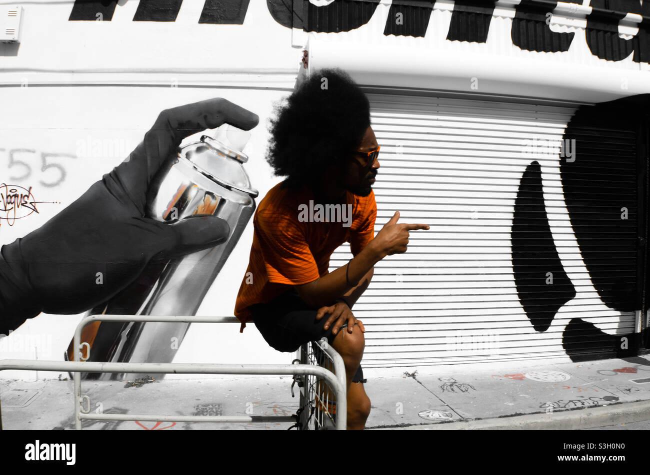 Graffiti-Hip-Hop-Künstler Stockfoto