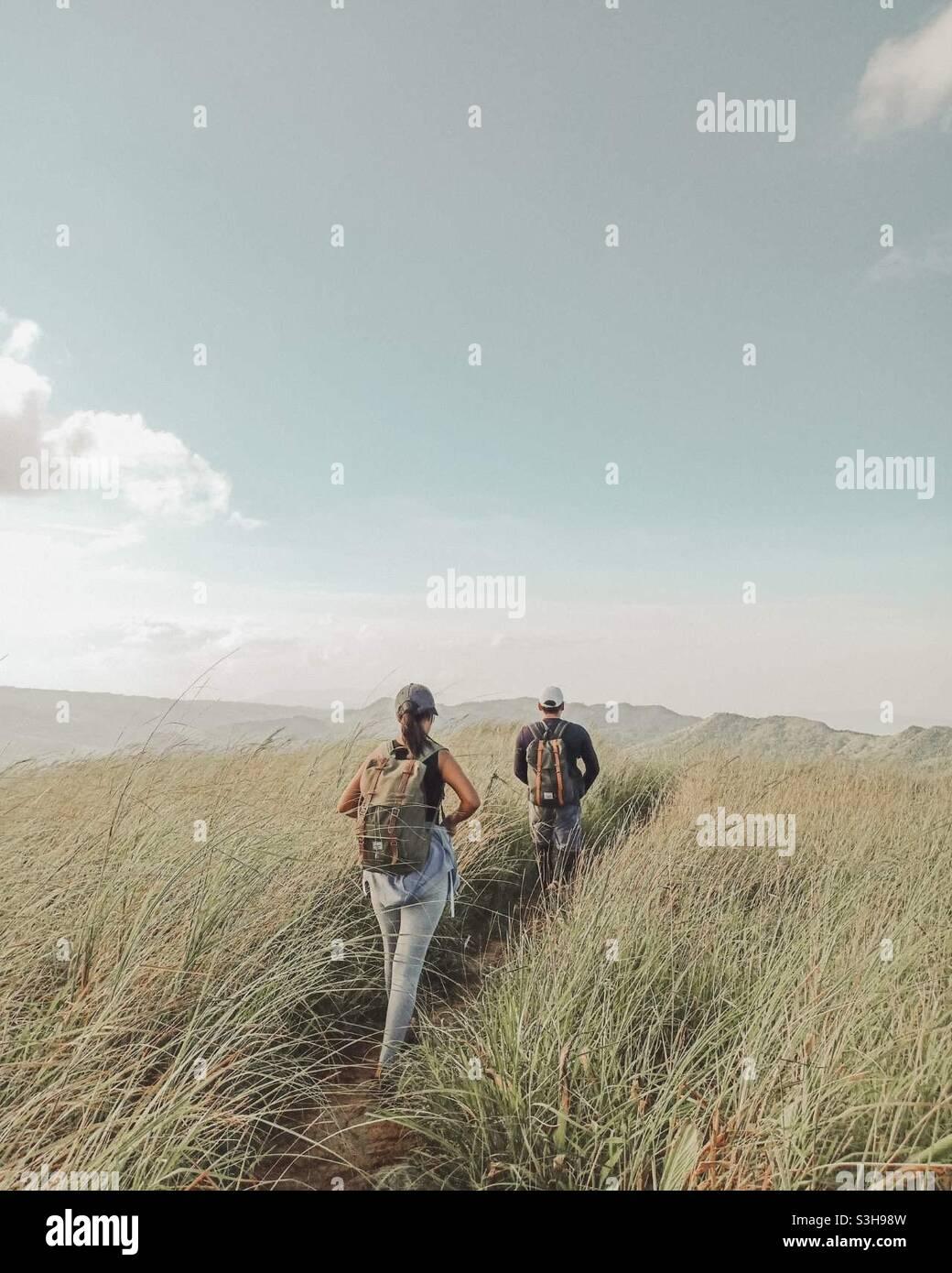 Wanderpaare Stockfoto
