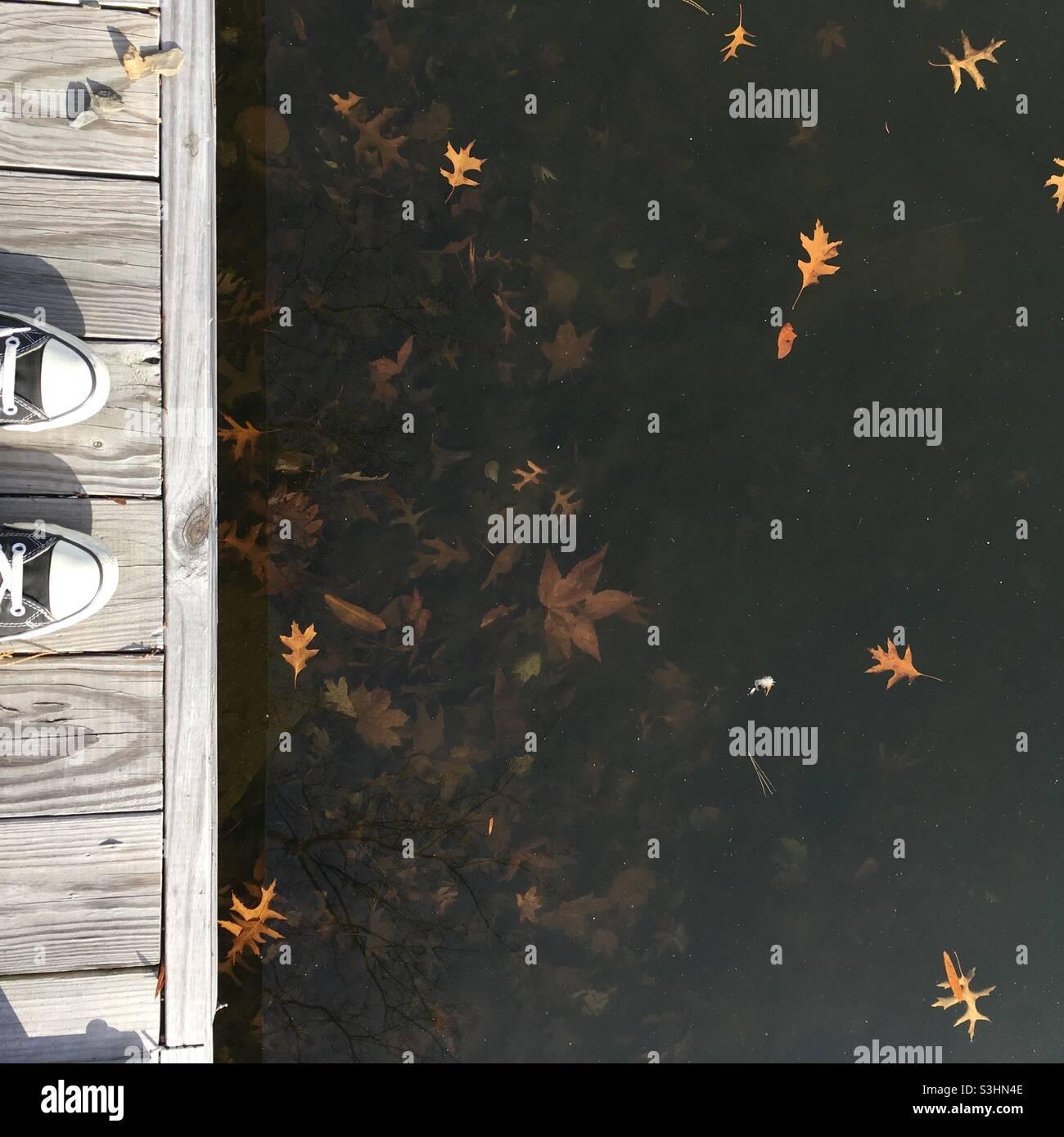 Herbst am Dock Stockfoto