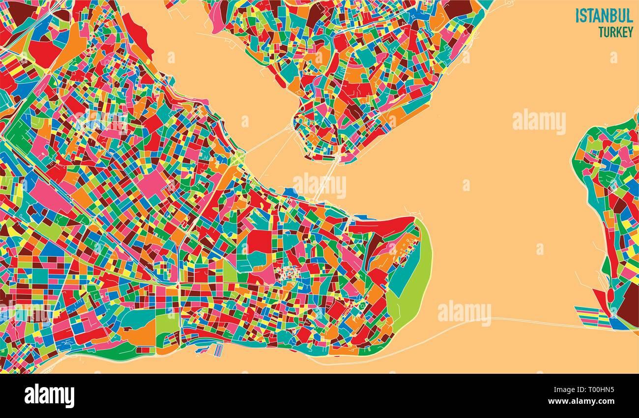 Karte Türkei.Satelliten Karte Von Istanbul In Der Türkei Ist Die