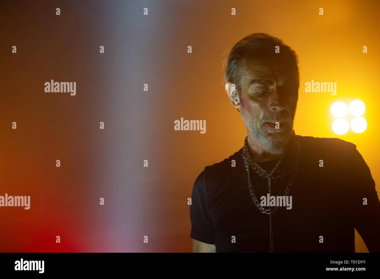 Peter Murphy, Sänger und Chef der englischen 80's Dark Rock Band Bauhaus. im Konzert an Orion-Club, Ciampino, Rom, Italien, 21-11-2018 Stockbild