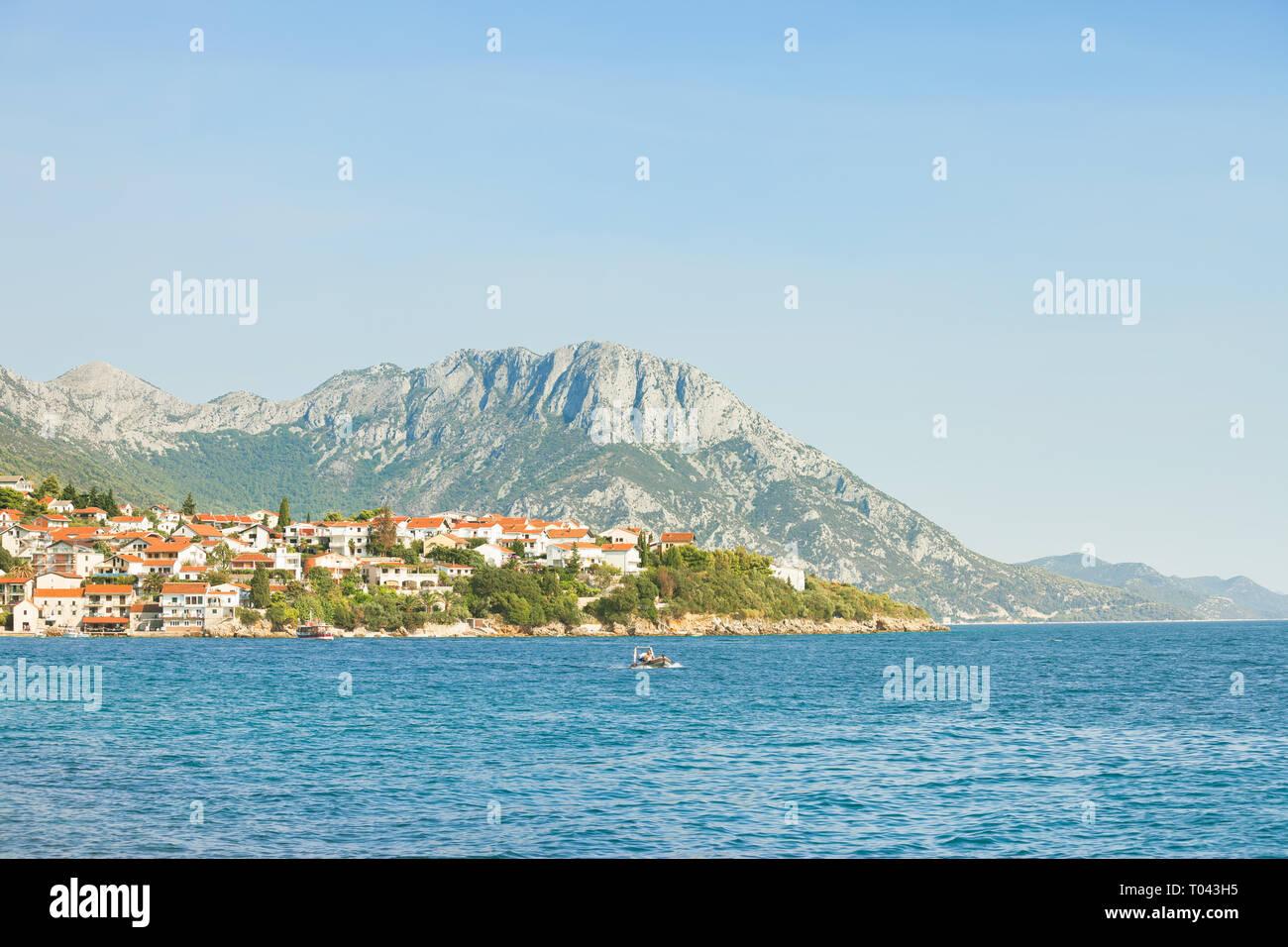 Kapec, Dalmatien, Kroatien, Europa - Aussichtspunkt Aussichtspunkt auf der schönen Küste von kapec Stockfoto