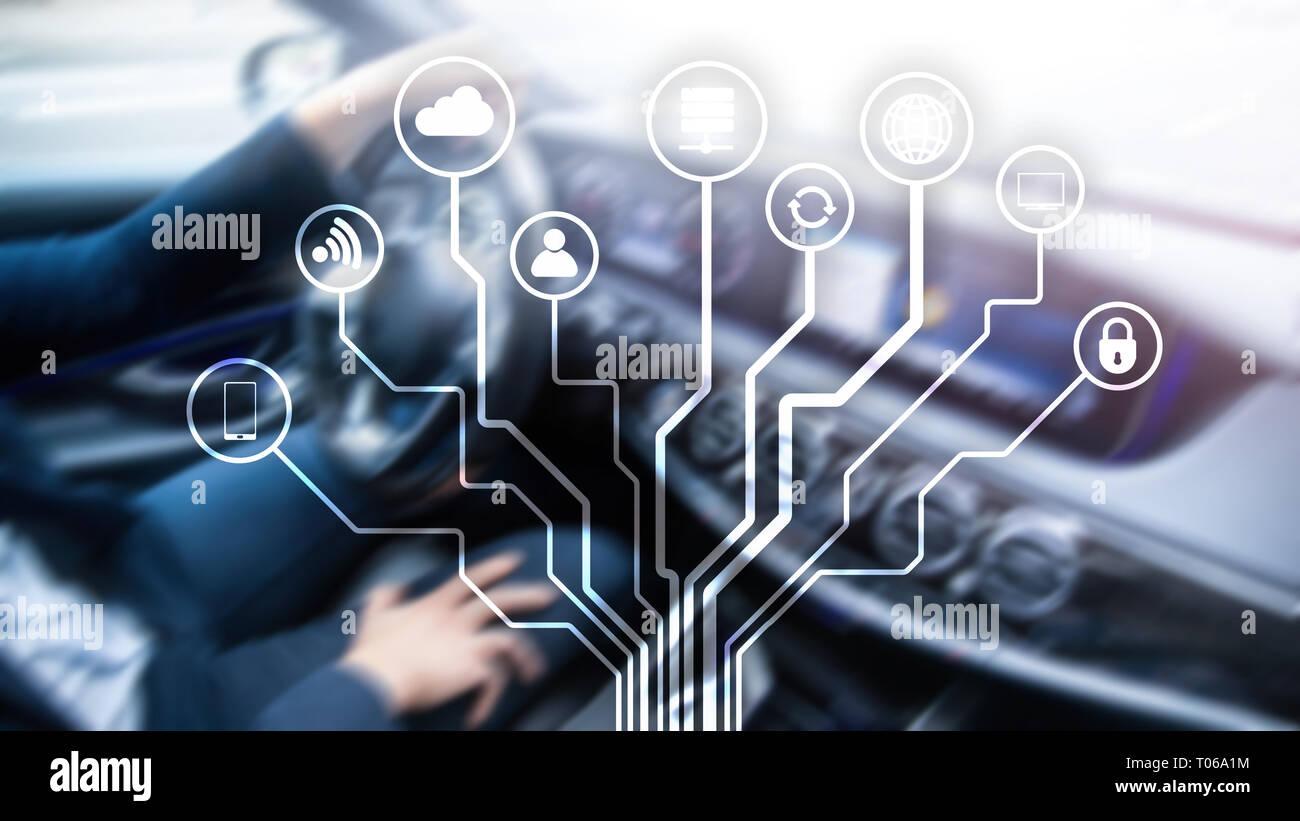 Telekommunikation Und Internet Der Dinge Konzept Auf Unscharfen