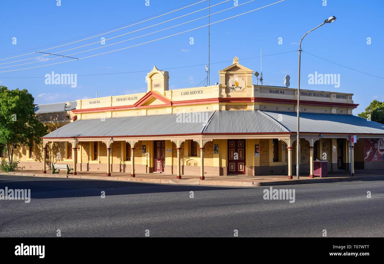 Maari Ma Aboriginal health care center, in Broken Hill, New South Wales, Australien. Stockbild