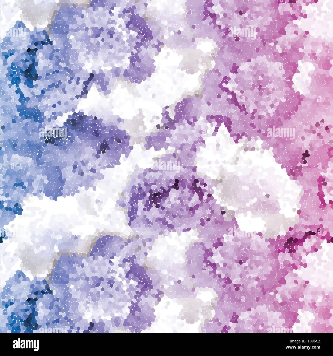 Nahtlose pfingstrose Mosaik. Rosa Blau Blume Muster Stockbild