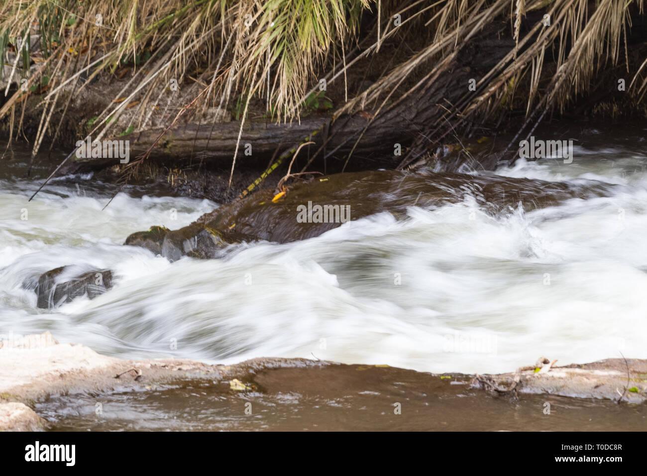 Die schnelle Strömung in Meru National Park. Kenia, Afrika Stockbild