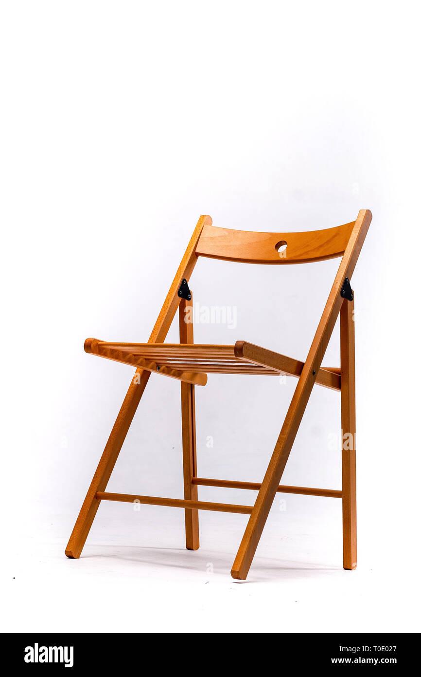 Stuhl Kunststoff Holz Leder Moderne Designer Isoliert Auf Weissem Hintergrund Serie Von Mobeln