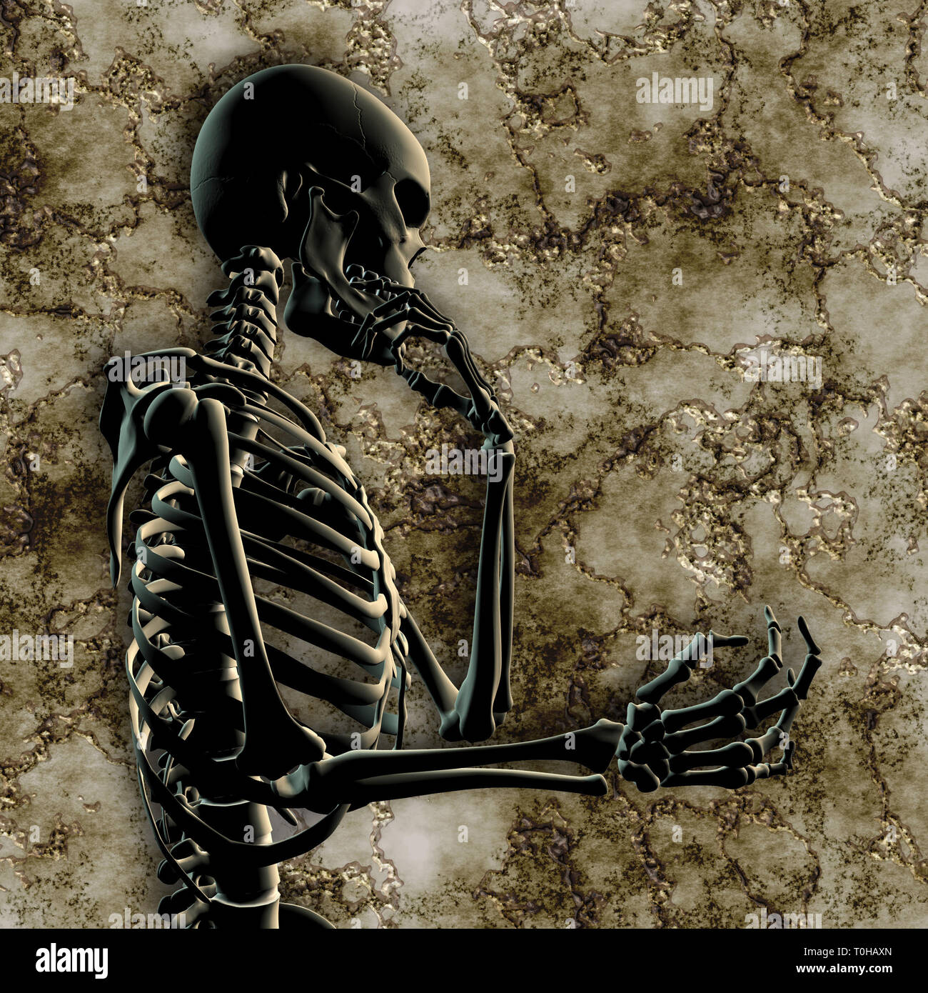 Denken menschliches Skelett Stockbild