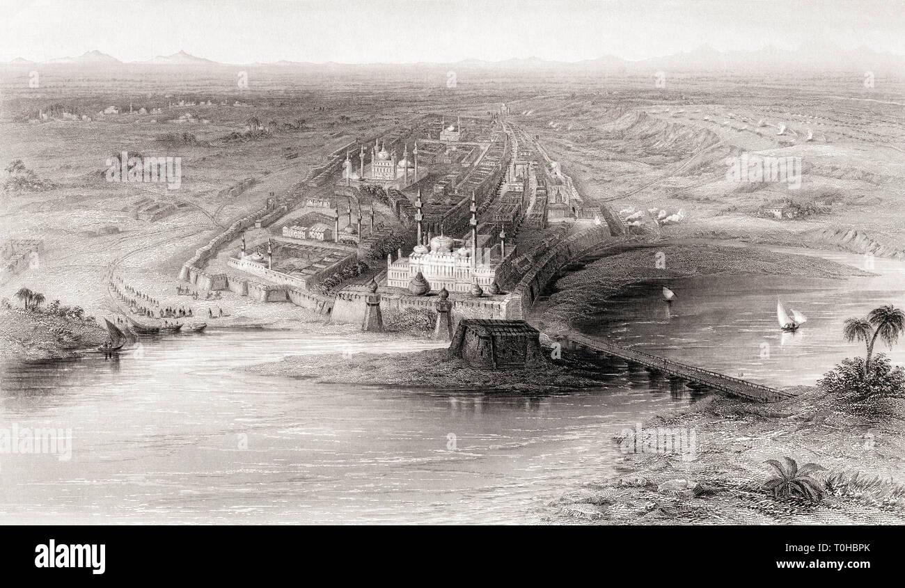 Panoramablick von der neuen und alten Delhi, Indien, Asien Stockbild