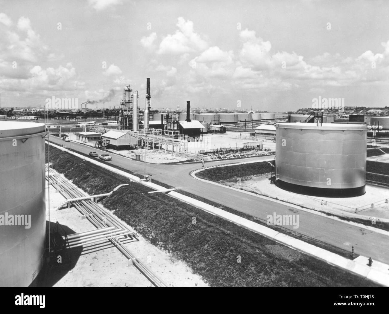 Geographie/Reisen, Kuba, Industrie, Erdöl, Shell Ölraffinerie, 1960, Additional-Rights - Clearance-Info - Not-Available Stockbild