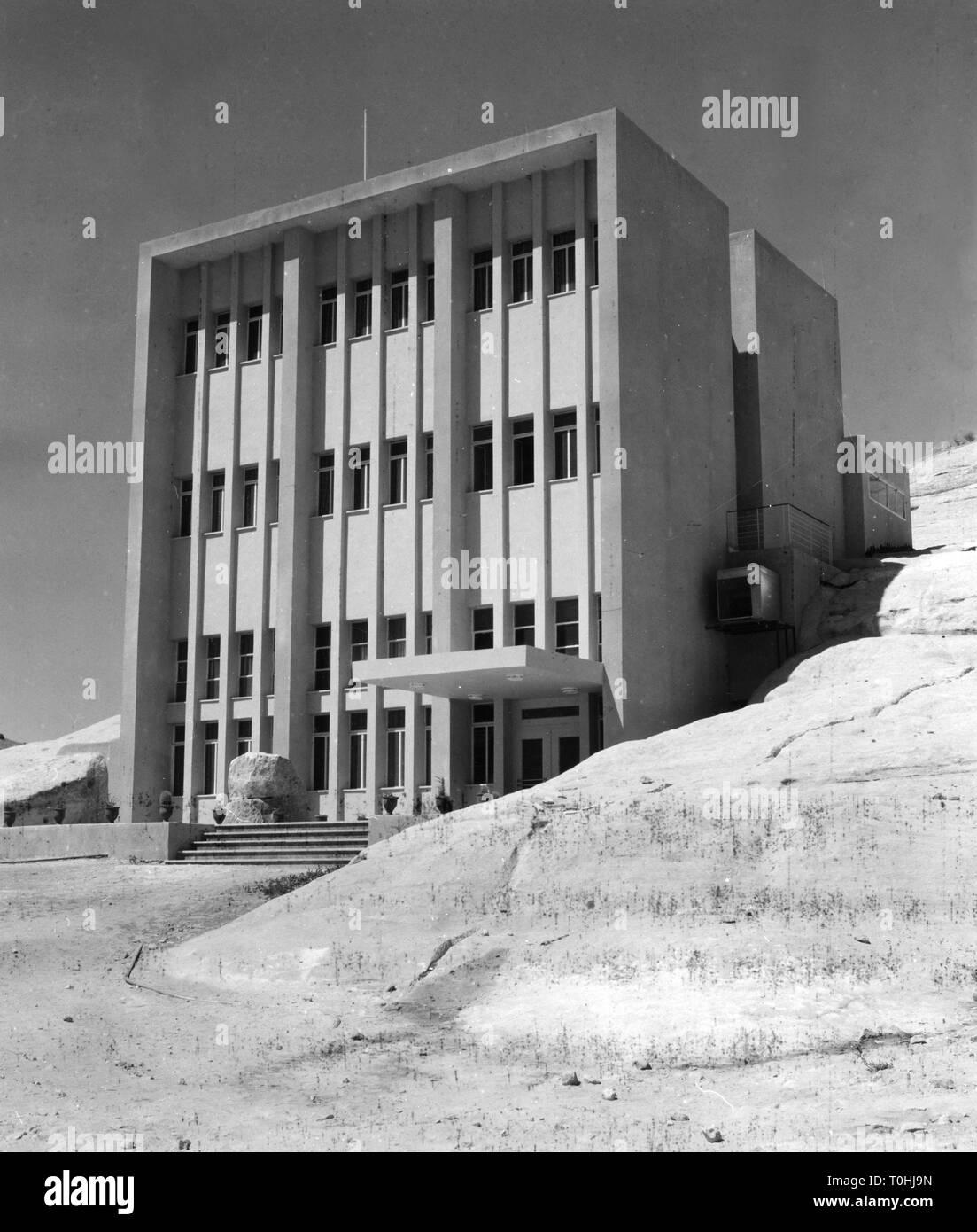 Geographie/Reisen, Jordanien, Petra, Rest House, Außenansicht, 1965, Additional-Rights - Clearance-Info - Not-Available Stockbild