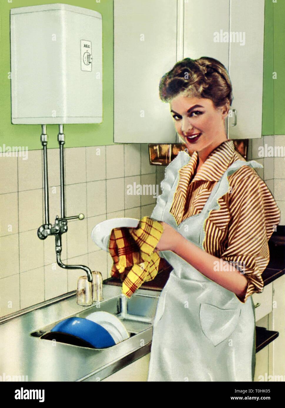 Hausfrau arbeiten
